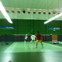 Photo taken at BJGCR Badminton Court by Kim Seng C. on 5/27/2012