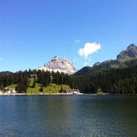 Photo taken at Lago di Misurina by Leonardo R. on 8/17/2012