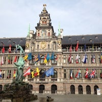 Photo taken at Antwerp City Hall by Theo G. on 6/21/2012