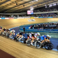 Photo taken at London 2012 Velodrome by Phil K. on 10/25/2014