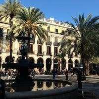 Photo taken at Plaça Reial by Nicolas B. on 2/23/2013