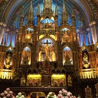 Photo taken at Notre-Dame Basilica of Montréal by Sarah S. on 4/22/2013