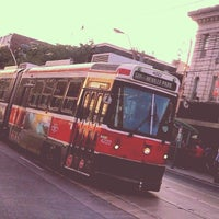 Photo taken at TTC Streetcar #501 Queen by Chris B. on 8/11/2014