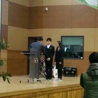 Photo taken at 청담중학교 by Mihyun J. on 3/2/2016
