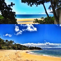 Photo taken at Ehukai Beach by Ian T. on 9/17/2012