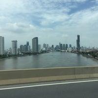 Photo taken at Rama III Bridge by Wuttinan W. on 7/20/2016