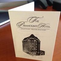 Photo taken at The Paramount Hotel Seattle by Matt M. on 7/27/2013