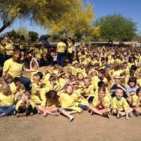 Photo taken at Zaharis Elementary School by Julie A. on 4/1/2014