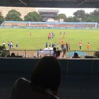 Photo taken at Stadion Klabat by Martine P. on 2/6/2016