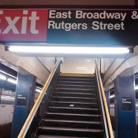 Photo taken at MTA Subway - East Broadway (F) by Gorka G. on 5/3/2016