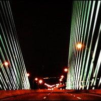 Photo taken at Napoleon Bonaparte Broward (Dames Point) Bridge by Ryan A. on 4/3/2013