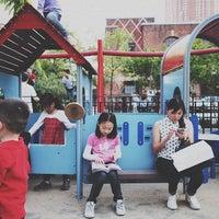 Photo taken at Sara Delano Roosevelt Park Playground by Ryan R. on 5/17/2013