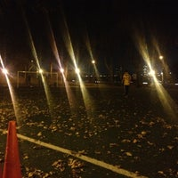 Photo taken at 101 Street Soccer Field by Annie F. on 11/10/2012