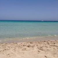 Photo taken at Spiaggia di Mondello by La Valü on 4/28/2013