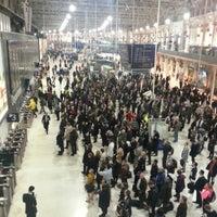 Photo taken at London Waterloo Railway Station (WAT) by Darren P. on 10/15/2012