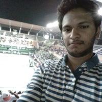 Photo taken at Lal Bahadur Shastri Stadium by Ankit T. on 11/17/2014