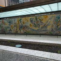 """Photo taken at Chagall Mosaic, """"The Four Seasons"""" by Kirstjen L. on 3/15/2016"""