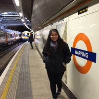 Photo taken at Wapping London Overground Station by Yeliz A. on 11/12/2015