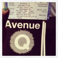 Photo taken at Avenue Q by Samantha O. on 1/11/2013