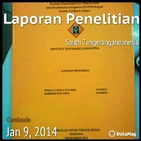 Photo taken at Institut Teknologi Indonesia (ITI) by Stella L. on 1/9/2014