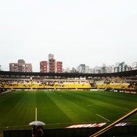 Photo taken at Estádio Heriberto Hülse by Henrique V. on 7/20/2013