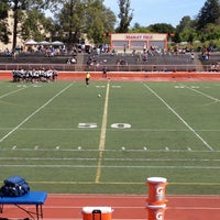 Photo taken at Woodside High School by David M. on 4/13/2013