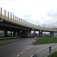Photo taken at Dienvidu tilta Slāvu aplis by Janis V. on 11/13/2012