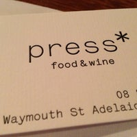 Photo taken at Press* food & wine by Chris L. on 11/24/2012