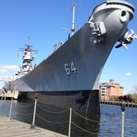 Photo taken at USS Wisconsin (BB-64) by LeAndra P. on 4/11/2012