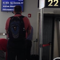 Photo taken at Gate 22 by Don D. on 6/17/2014