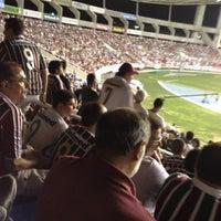 Photo taken at Olympic Stadium (Engenhão) by Felipe L. on 10/17/2012