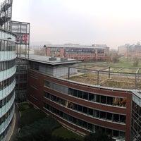 Photo taken at Infopark - G épület - Magyar Telekom by uh on 11/10/2014