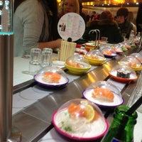 Photo taken at YO! Sushi by Wagyu S. on 9/29/2012