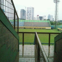 Photo taken at Stadion Lebak Bulus by Benhard m. on 12/17/2013