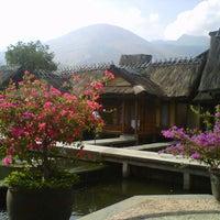Photo taken at Kampung Sumber Alam by nenden h. on 10/9/2012