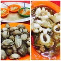 Photo taken at Santiga Seafood (Abeng) by Chelsea M. on 2/20/2016