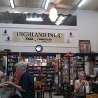 Photo taken at Highland Park Old-Fashioned Soda Fountain by Loren S. on 4/1/2013