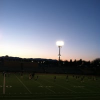 Photo taken at Garry Berry Stadium by Naomi T. on 4/25/2013