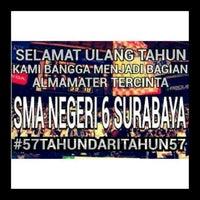 Photo taken at SMA Negeri 6 Surabaya by fitri d. on 9/17/2014