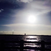 Photo taken at Crosby Beach by Melike Ç. on 2/23/2015