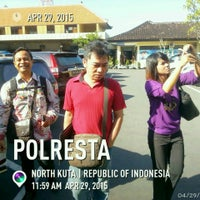 Photo taken at POLRESTA Denpasar by Media S. on 4/29/2015