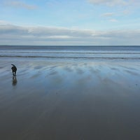 Photo taken at Enniscrone Beach by Claire K. on 2/17/2013