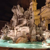 Photo taken at Piazza Navona by Anton L. on 3/29/2013