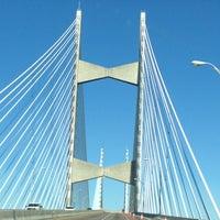Photo taken at Napoleon Bonaparte Broward (Dames Point) Bridge by Susan E. on 1/31/2013