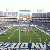 Photo taken at Qualcomm Stadium by Daniel S. on 11/1/2012