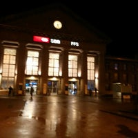 Photo taken at Bahnhof Biel / Gare de Bienne by Aldo G. on 2/1/2013