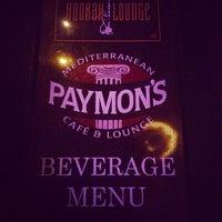 Photo taken at Paymon's Mediterranean Cafe & Hookah Lounge by Joncha B. on 6/6/2014