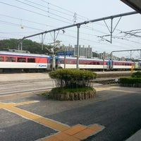 Photo taken at Gangneung Stn. by Gorawin W. on 5/22/2013