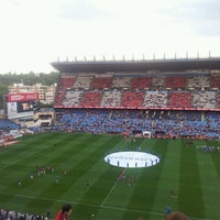 Photo taken at Estadio Vicente Calderón by Pablo S. on 5/26/2013