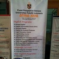 Photo taken at Universitas Katolik Indonesia Atma Jaya by Taewon M. on 10/12/2012